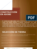 Construcción en Adobe y Tapial