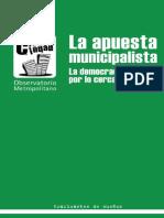 la apuesta municipalista - la democracia empieza por lo cercano
