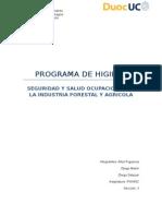 Programa de higieneForestal