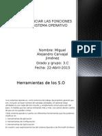 DIFERENCIAR LAS FUNCIONES DEL S.O