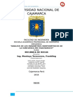 Análisis de Los Parámetros Morfométricos de La Subcuenca Río Huacraruco