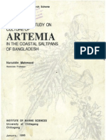 Preliminary Study on Culture of Artemia in Coastal Saltpans of Bangladesh