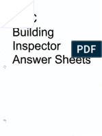 UBC Building Inspector Answer Sheets