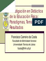 Bases de Investigacion en E.F. Carreiro Da Silva