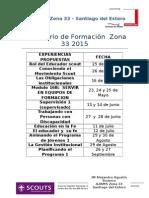 Calendario de Formación  Zona 33 - 2015