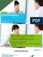 MS ADFS Best Practices