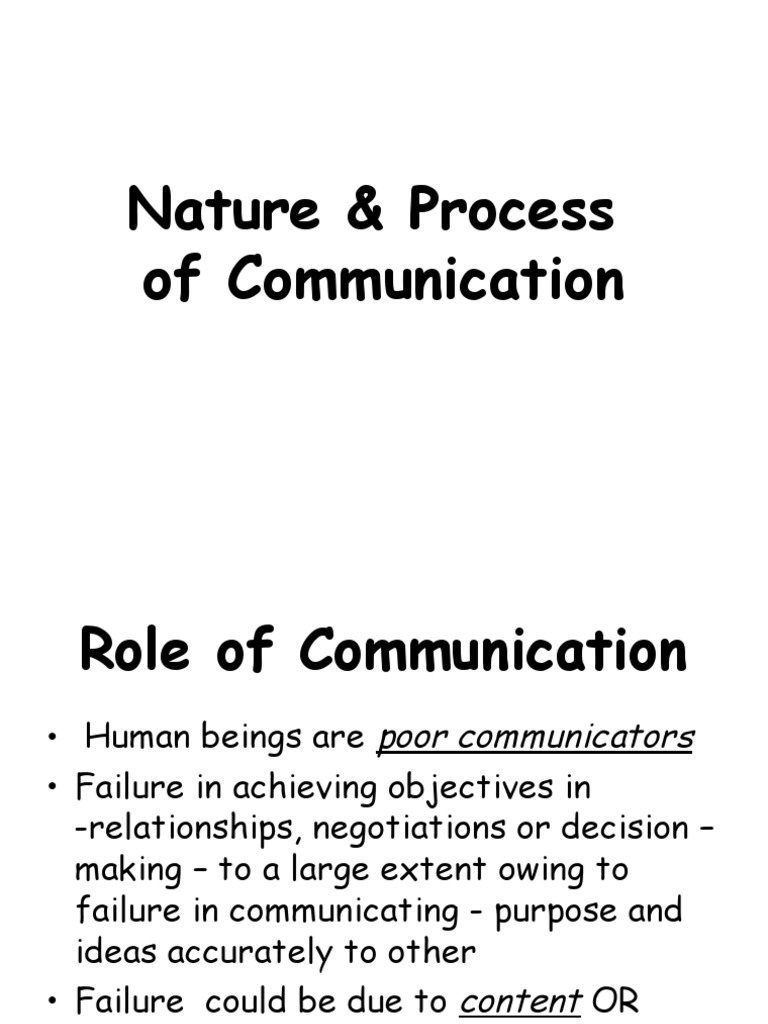 what is the nature and process of communication
