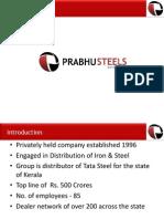 Prabhu Steels 2015- Profile