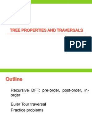 Tree Properties And Traversals