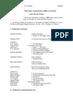 Literatura i Lista de Lecturas