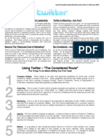 Social Thought Leadership Discussion Note 2 - Twitter
