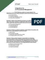 Self Assessment 12 Procurement