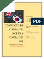 Conflicto Entre Corea Del Norte y Corea Del Sur