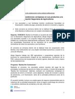 Bankia ofrece condiciones ventajosas en sus productos a la Asociación Segoviana de Agricultores