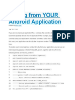 Calling from YOUR Android Application