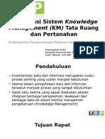 Knowledge Management Kedeputian Regional dan Otonomi Daerah-Sosialisasi