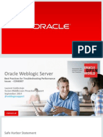 Oracle WLS - Performance Issues - Best Practices