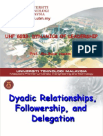Module 7 Dyadic Relationshp, Followershp & Delegation L'SHIP-7
