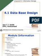 4 1 Data Base Design