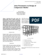 Study of Various Parameters on Design of Compressor Shelter