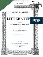 M.de Lamartine - Cours Familier de Littérature - Entretien 31