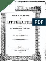 M.de Lamartine - Cours Familier de Littérature - Entretien 42