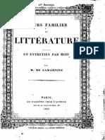 M.de Lamartine - Cours Familier de Littérature - Entretien 43