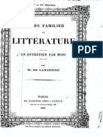 M.de Lamartine - Cours Familier de Littérature - Entretien 50-51