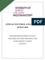 Annual Doctoral Colloquium Programme