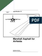Marshall Asphalt for Airfields