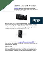 Máy Ảnh Canon Isux 275 hiện đại