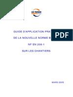 Guide Dapplication Beton Nf en 206-1 Sur Les Chantiers Dern Version