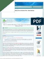 Backup User and System Files - Delete Backups - Windows 7 Help Forums