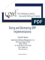 Beckett Sizing and Estimating ERP Implementations 1
