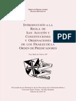 Introducción a la Regla  de San Agustín y Constituciones y Ordenaciones de  los  frailes de la Orden de Predicadoreses Sobre Regla LCO 2014 Protegido