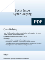 Social Issue-Cyber Bullying