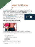 Usi e Dosaggi Del Cromo Picolinato
