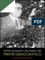 Enver Hoxha; Sobre el papel y las tareas del Frente Democrático, 1967