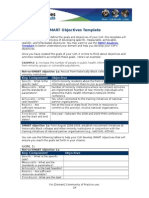 Evaluate Smart Objectives Template