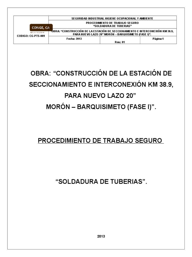 P.T.S. Soldadura de Tuberias Km 38.9