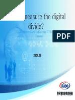 Measuring the digital divide