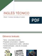 Ingles Técnico - Gêneros