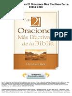 Las 21 Oraciones Mas Efectivas de La Biblia