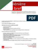 Briefing de plénière - Juin 2015