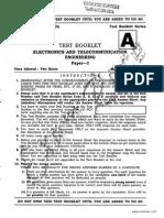IES Electronics Telecommunication Objective Paper 2014
