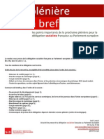 Briefing de plénière - Mai 2015