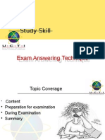 Week 4 Exam Answering Techiques