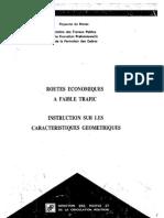 Instructions Sur Les Caratéristiques Géométriques Des Routes..
