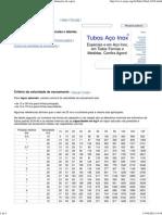 Algumas Fórmulas e Tabelas Para Tubulações de Vapor