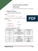 Programmation en MAPLE